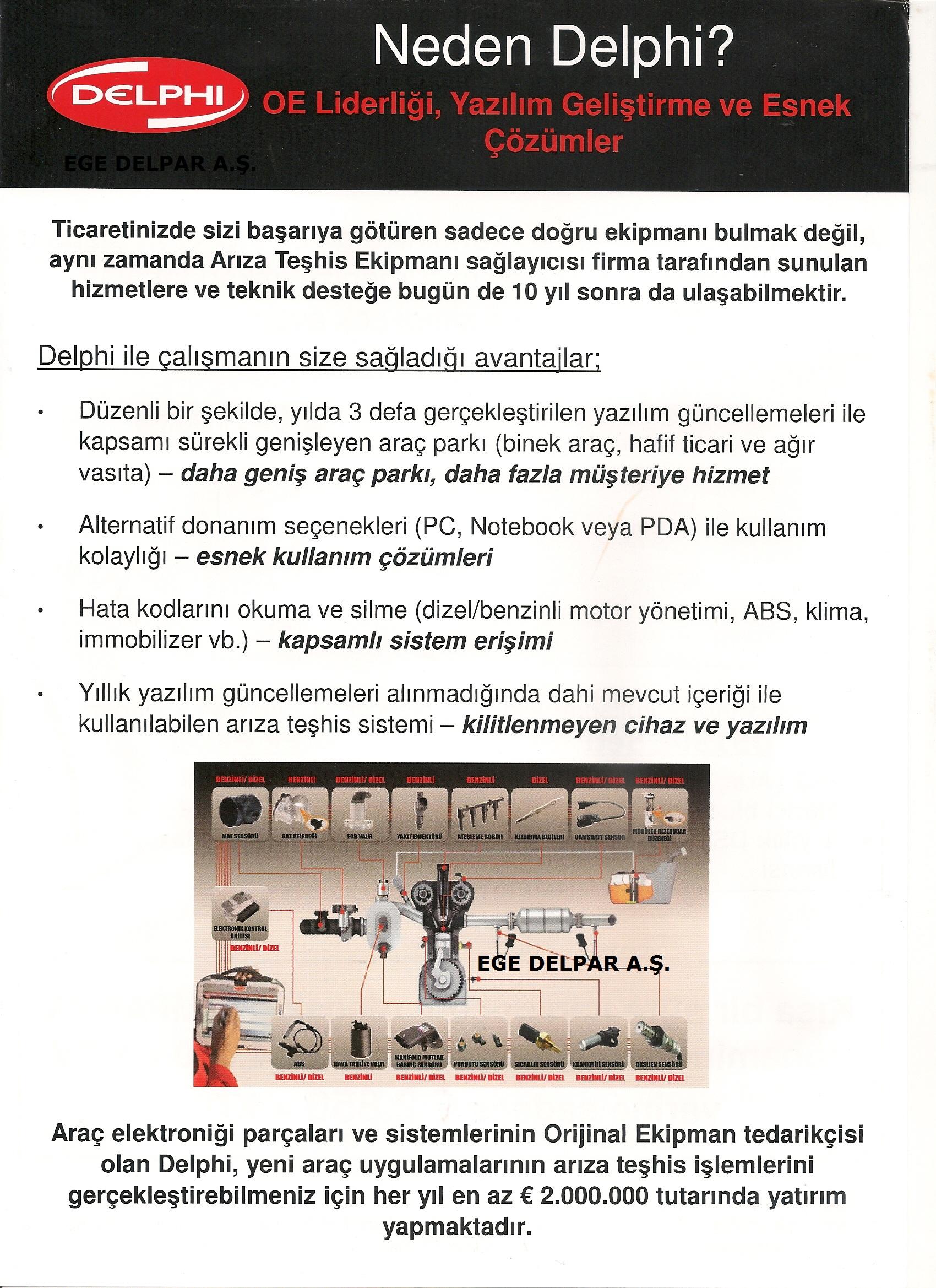 Delphi Arıza Tespit Cihazı